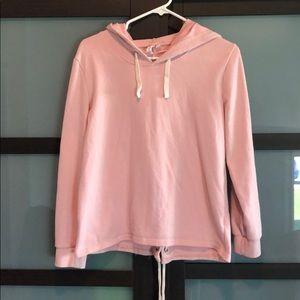 Pink Hooded Top